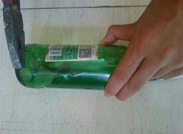 Yüzük almak yerine cam şişeden kendisi yaptı