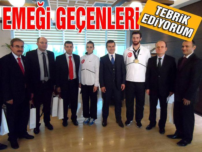 Bakan Suat Kılıç şampiyonları tebrik etti