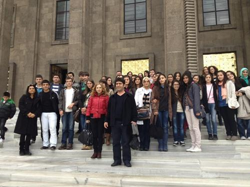 Arifiye Anadolu Lisesi öğrencileri Anıtkabir'de