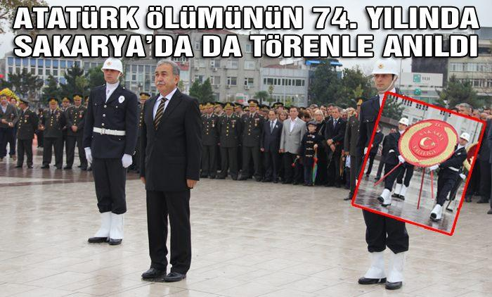 Ulu Önder Atatürk törenle anıldı