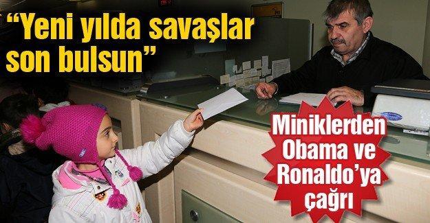 Miniklerden Obama ve Ronaldo'ya çağrı