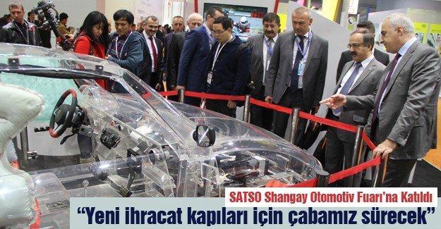 SATSO Shangay Otomotiv Fuarı'na Katıldı