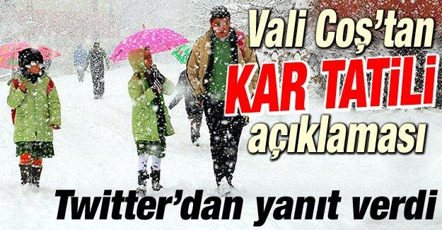 Vali Coş'tan kar tatili açıklaması