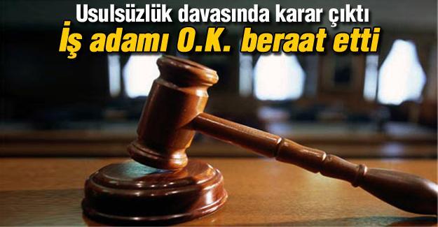 Usulsüzlük davasında beraat kararı!