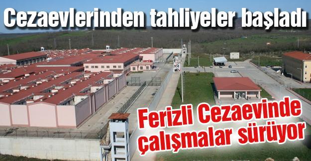 Ferizli Cezaevinde çalışmalar sürüyor