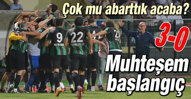Sakaryaspor'dan muhteşem başlangıç! 3-0