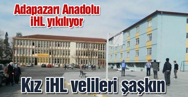 Adapazarı Anadolu İHL yıkılıyor