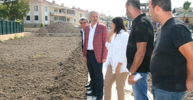 Başkan Dişli temalı parkta inceleme yaptı