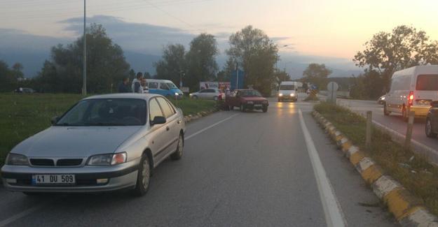 Batakköy kavşağında kaza: 2 yaralı