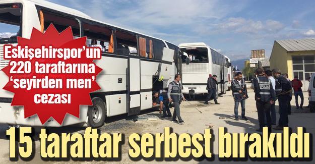 Eskişehirspor'un 220 taraftarına 'seyirden men' cezası