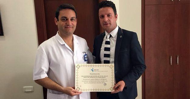 İstihdama katkılarından dolayı Beyhekim'e teşekkür belgesi