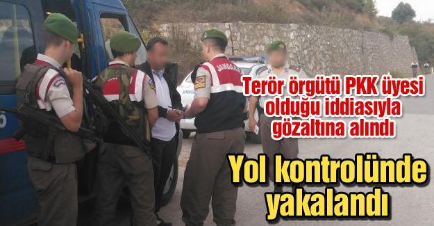 PKK'lı şahıs yol kontrolünde yakalandı
