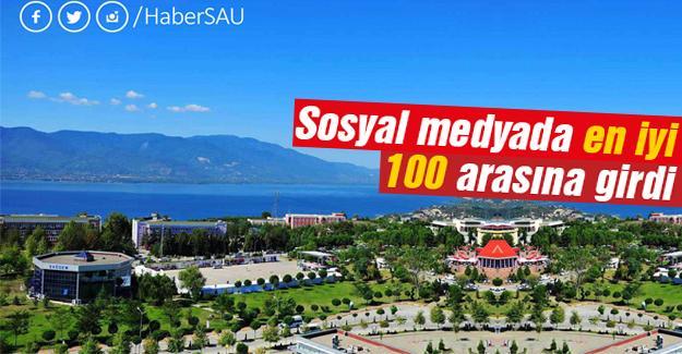 Sakarya Üniversitesi sosyal medyada da zirvede