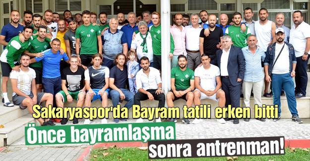 Sakaryaspor'da Bayram tatili erken bitti