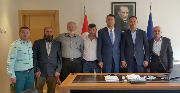 Akdardağan ve üyelerden Bayraktar'a ziyaret