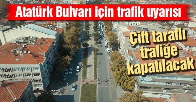 Atatürk Bulvarı için trafik uyarısı