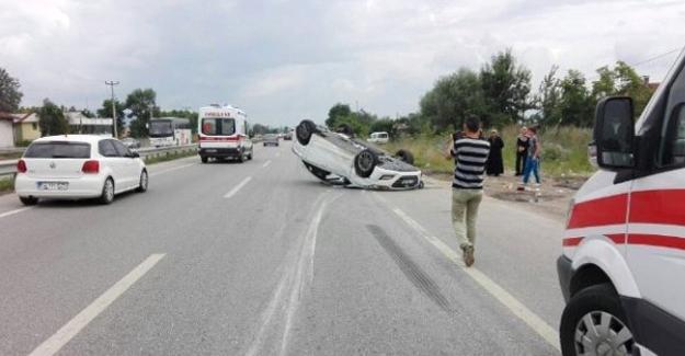 Ferizli'de trafik kazası  1 ölü 6 yaralı