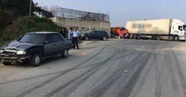 Karasu'da zincirleme kaza: 1 yaralı
