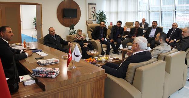 AK Parti İlçe Başkanlığından Müteahhitlere ziyaret