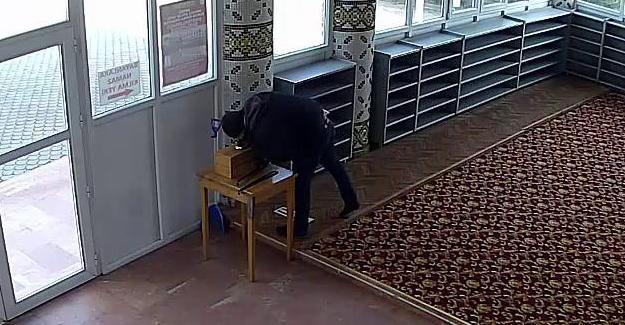Aynı camiye üçüncü kez giren hırsız eli boş döndü