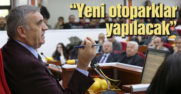 Toçoğlu Meclis'te parklanmaya değindi