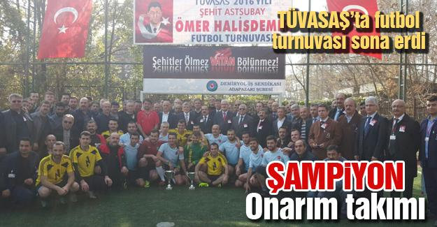 TÜVASAŞ'ta futbol turnuvası sona erdi