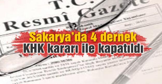 Yeni KHK ile Sakarya'da kapatılan dernekler