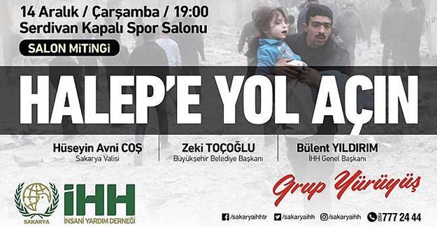 """Halep'e Yol Açın"""" Konvoyu Sakarya'da konaklayacak!"""