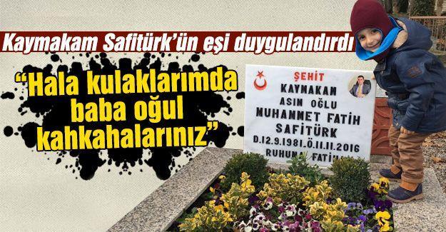 Kaymakam Safitürk'ün eşinden duygulandıran paylaşım