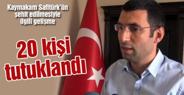 Kaymakam Safitürk'ün şehit edilmesiyle ilgili gelişme