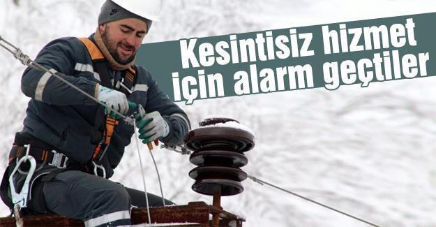 SEDAŞ ekiplerinden kar mesaisinde başarılı mücadele