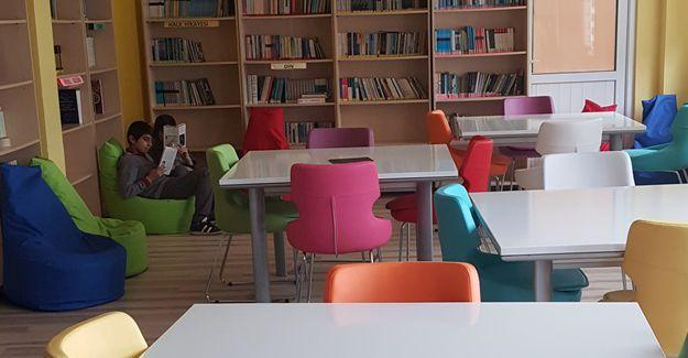 Yenilenen kütüphane kitap okumayı arttırdı