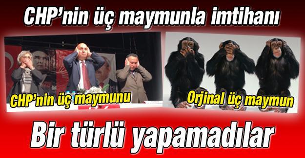 CHP'nin 3 maymunla imtihanı
