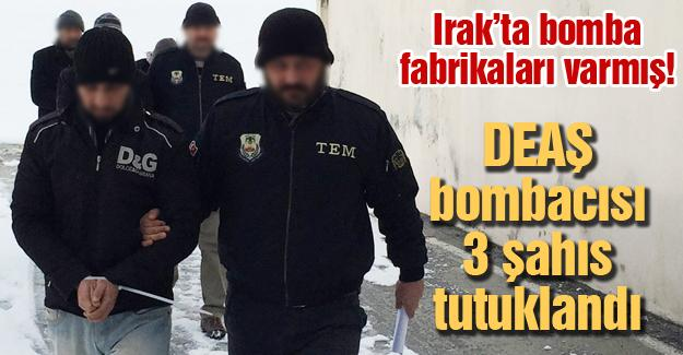 DEAŞ bombacısı 3 kişi tutuklandı