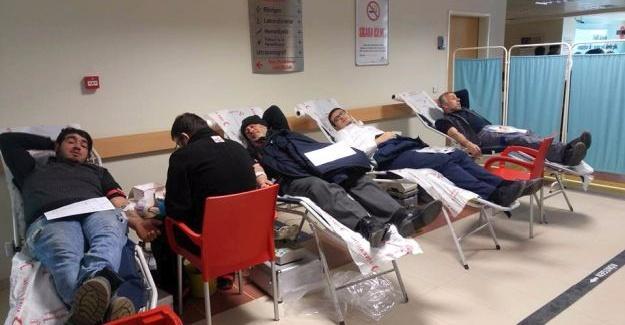 Hastane personeli kan verdi