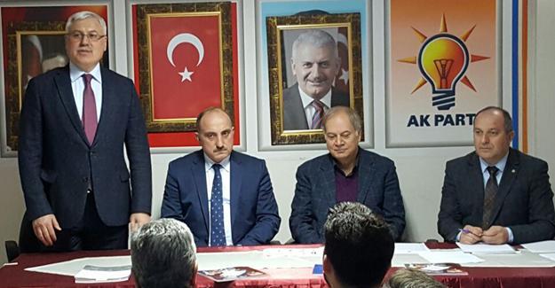 İsen AK Parti ilçe yönetim kurulu toplantısına katıldı