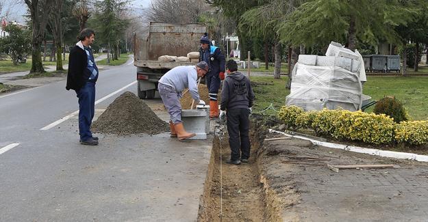 Sapanca Belediyesi'nden yağmur suyu çalışması