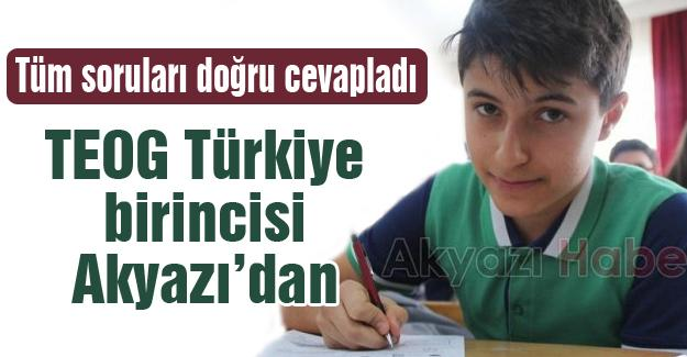 TEOG Türkiye birincisi Akyazı'dan