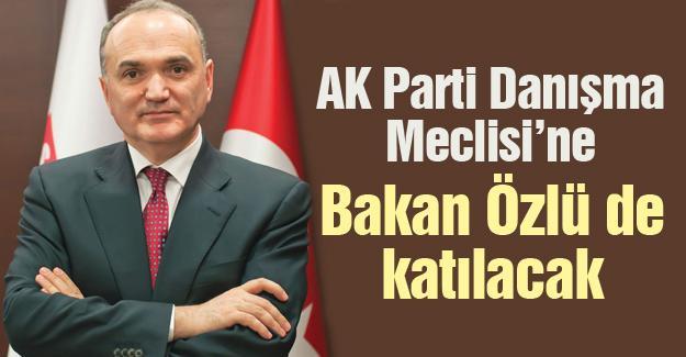 AK Parti Danışma Meclisi'ne Bakan Özlü de katılacak