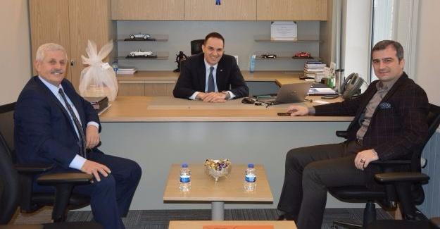 Akçakoca Belediye Başkanı'ndan Şentürk'e ziyaret