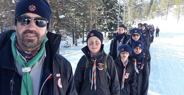 Sakaryalı izciler kış kampını tamamladı