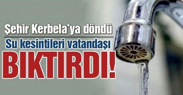 Su kesintileri vatandaşı bıktırdı
