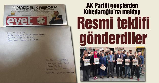 AK Partili gençlerden Kılıçdaroğlu'na mektup