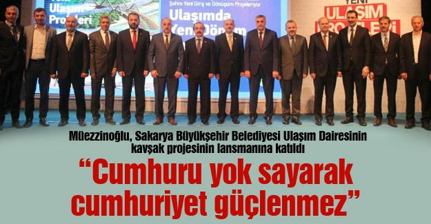 """Cumhuru yok sayarak cumhuriyet güçlenmez"""