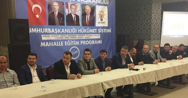 Serdivan'da dördüncü mahalle eğitim programı yapıldı