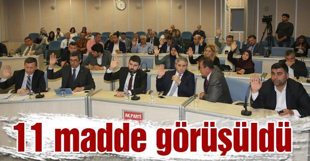 Adapazarı Belediyesi Mayıs ayı meclisi yapıldı