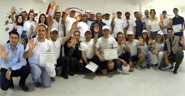 AFAD Gönüllüleri belgelerini aldı