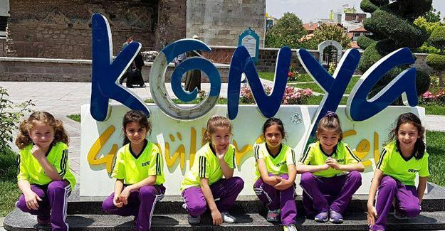 Cimnastikçiler Konya'dan döndü