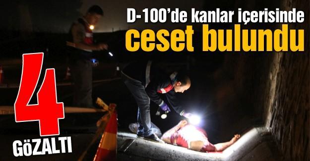D-100'de kanlar içerisinde ceset bulundu!