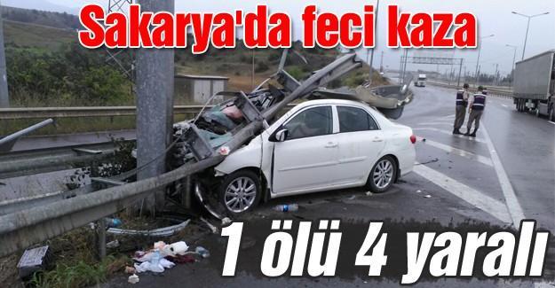 Sakarya'da feci kaza